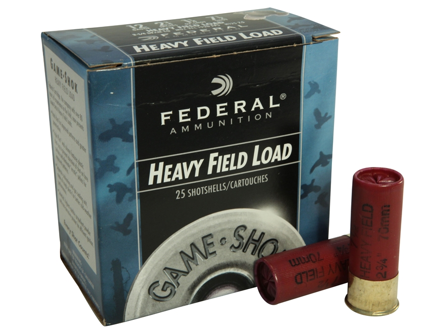 "Federal Game-Shok Heavy Field Load Ammunition 12 Gauge 2-3/4"" 1-1/4 oz #7-1/2 Shot Box ..."