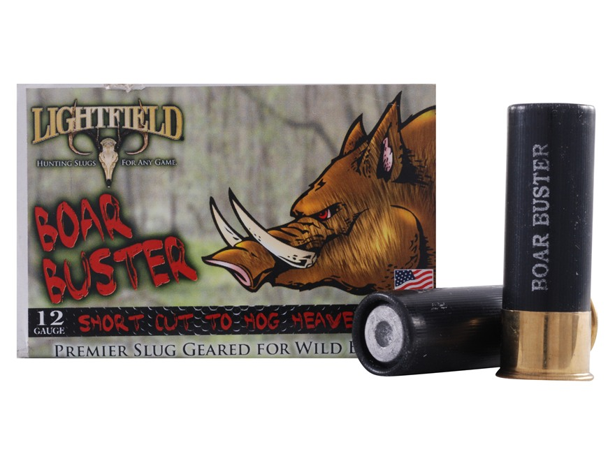 "Lightfield Boar Buster Ammunition 12 Gauge 2-3/4"" 1-1/16 oz Sabot Slug Box of 5"
