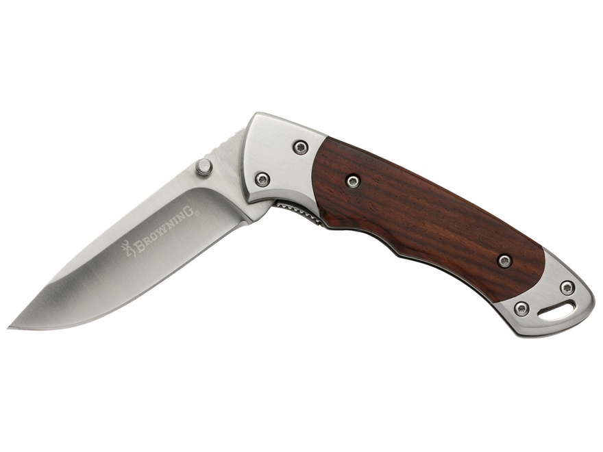 "Browning Whitetail Folding Pocket Knife 2.5"" Drop Point 440 Stainless Steel Blade Cocob..."