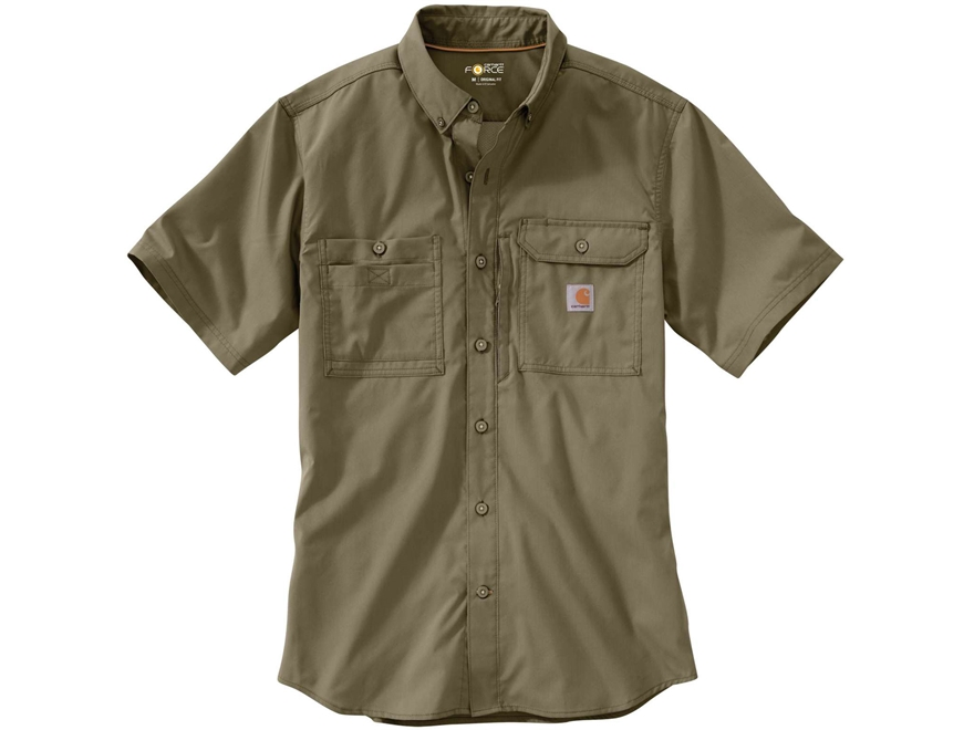 Carhartt Men's Force Ridgefield Button-Up Shirt Short Sleeve