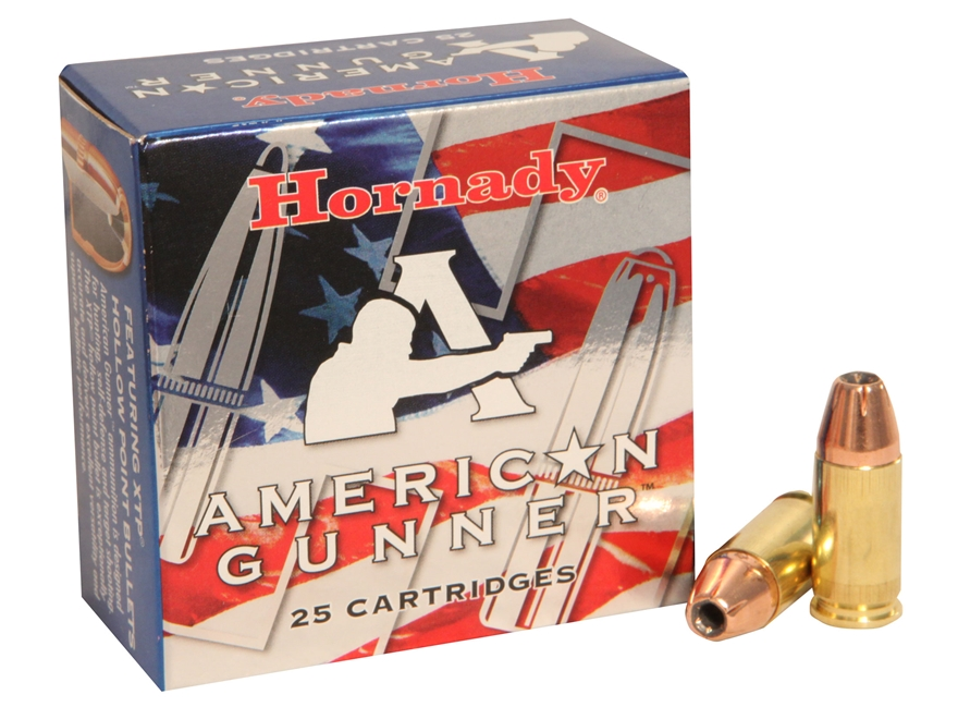 Hornady American Gunner Ammunition 9mm Luger 115 Grain XTP Jacketed Hollow Point Box of 25
