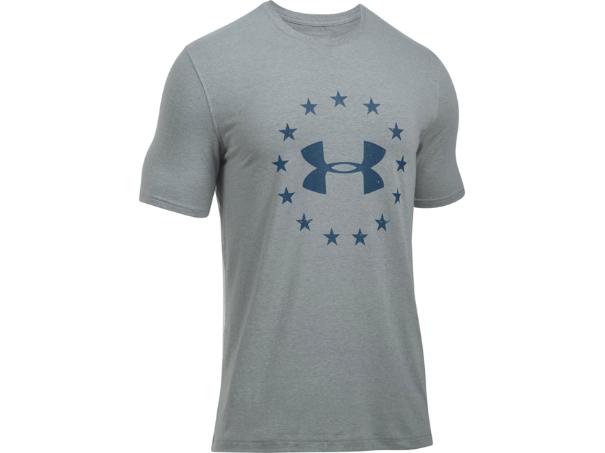 Under Armour Men's UA Freedom T-Shirt Short Sleeve Charged Cotton