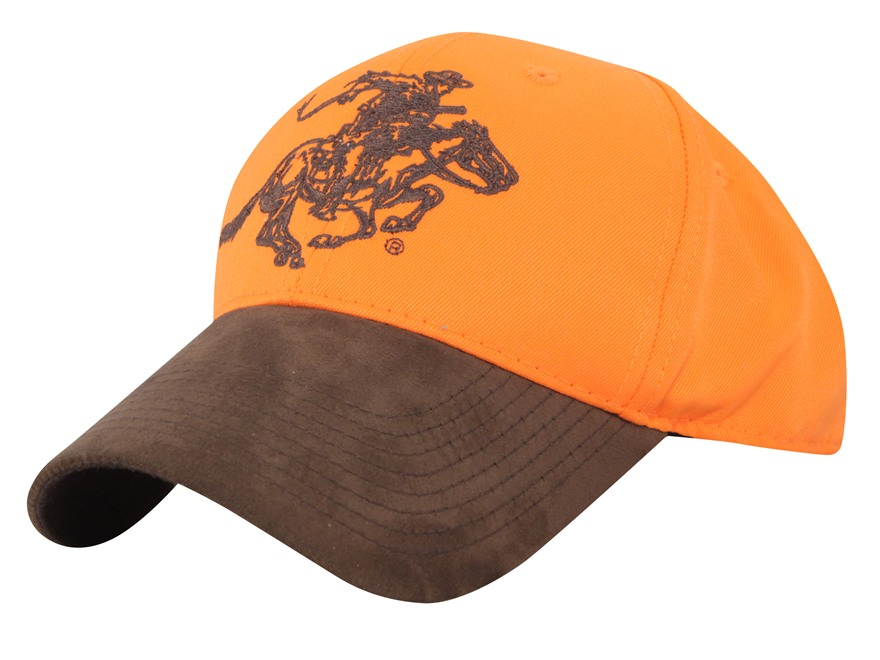 Winchester Horse and Rider Logo Cap Cotton Blaze Orange and Brown