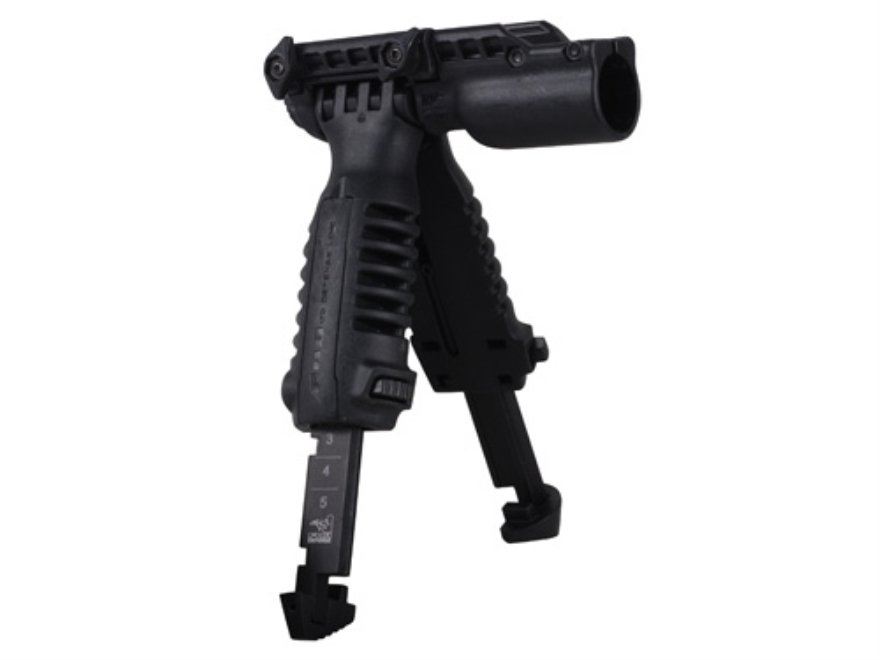 "Mako T-Pod Vertical Forend Grip With Bipod and 1"" Diameter Light Mount Polymer Black"