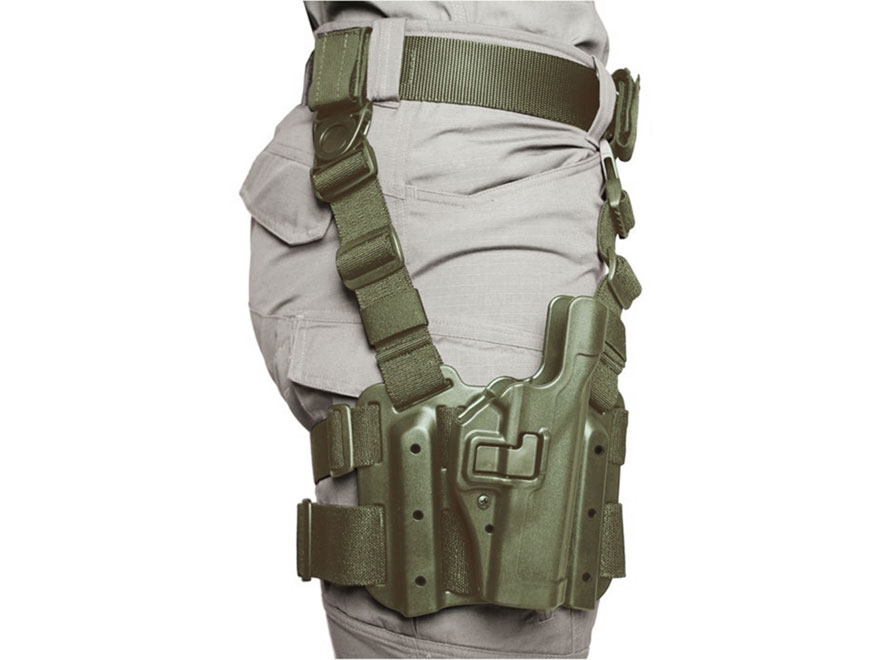 BLACKHAWK! Tactical Serpa Level 2 Thigh Holster 1911 Government with or without Rail Po...