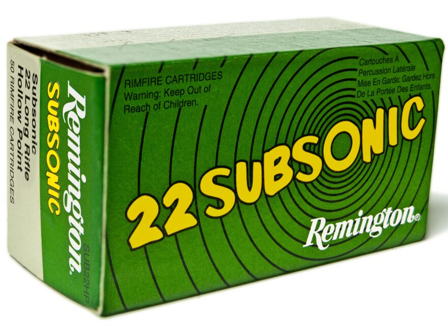 Remington Subsonic Ammunition 22 Long Rifle 38 Grain Lead Hollow Point Subsonic Box of 50