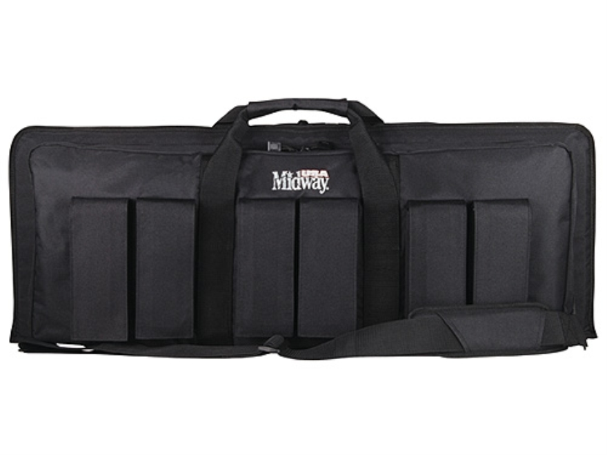 "MidwayUSA Pro Series Tactical Rifle Case 35"" PVC Coated Polyester Black"