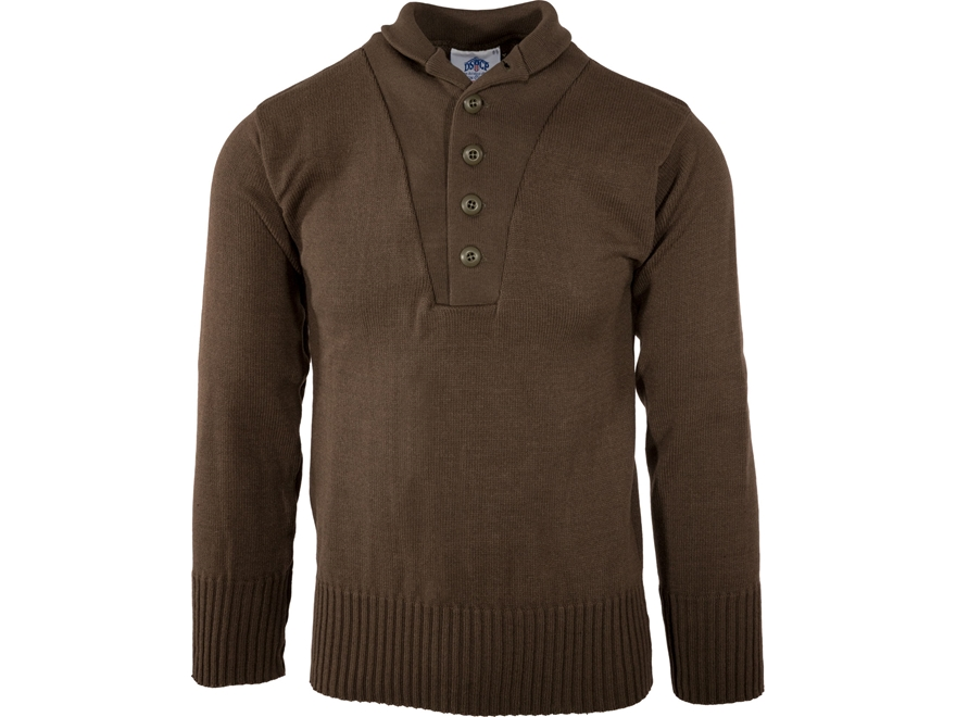 Military Surplus 5 Button Sweater Wool