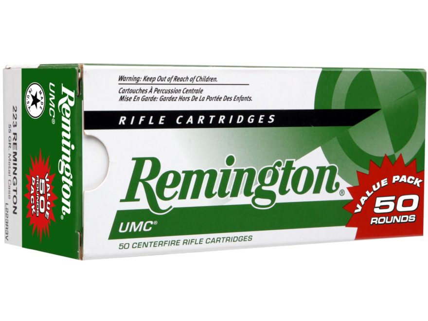 Remington UMC Ammunition 223 Remington 55 Grain Full Metal Jacket Box of 50