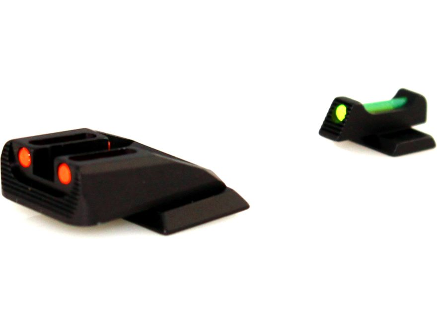 Williams Fire Sight Set S&W M&P Shield Fiber Optic Green Front, Red Rear