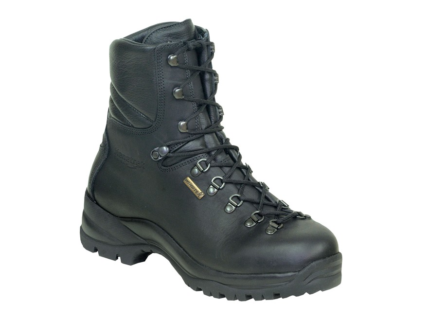"Kenetrek Hard Tactical 8"" Waterproof Uninsulated Tactical Boots Leather Black Men's"