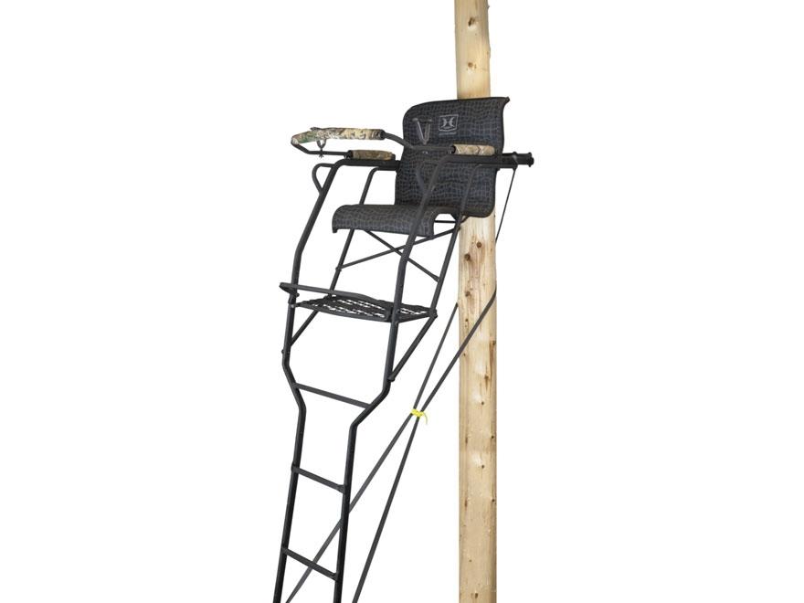 Hawk 20' Big Denali 1.5-Man SLS Ladder Treestand Steel Black