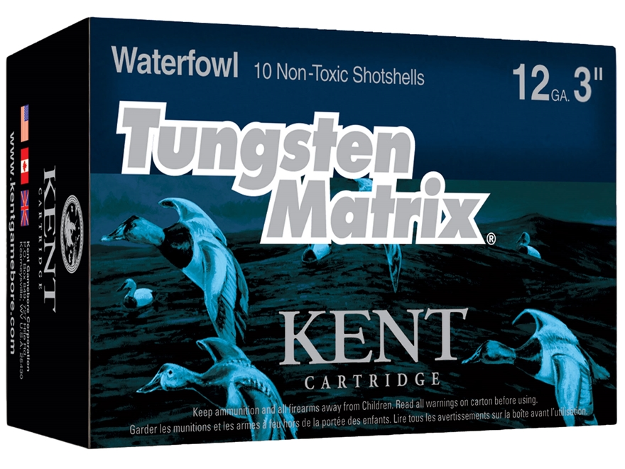"Kent Cartridge Tungsten Matrix Waterfowl Ammunition 12 Gauge 3"" 1-1/4 oz #3 Tungsten No..."