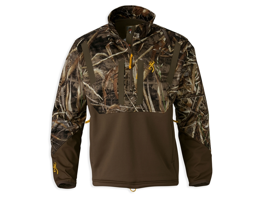 Browning Men's Wicked Wing Timber Soft Shell 1/4 Zip Jacket Realtree Max-5 Camo