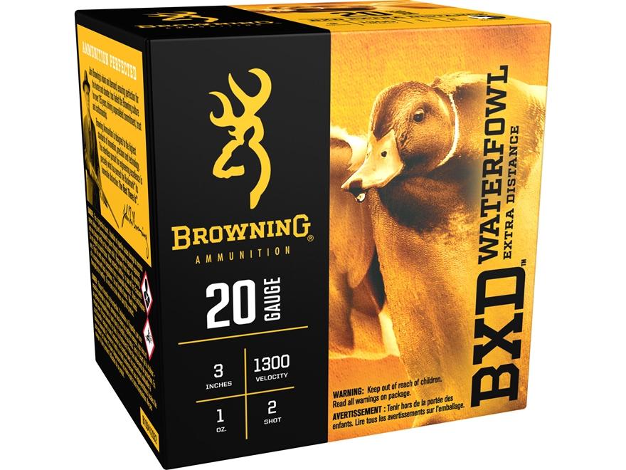 "Browning BXD Waterfowl Ammunition 20 Gauge 3"" 1 oz #2 Non-Toxic Steel Shot"