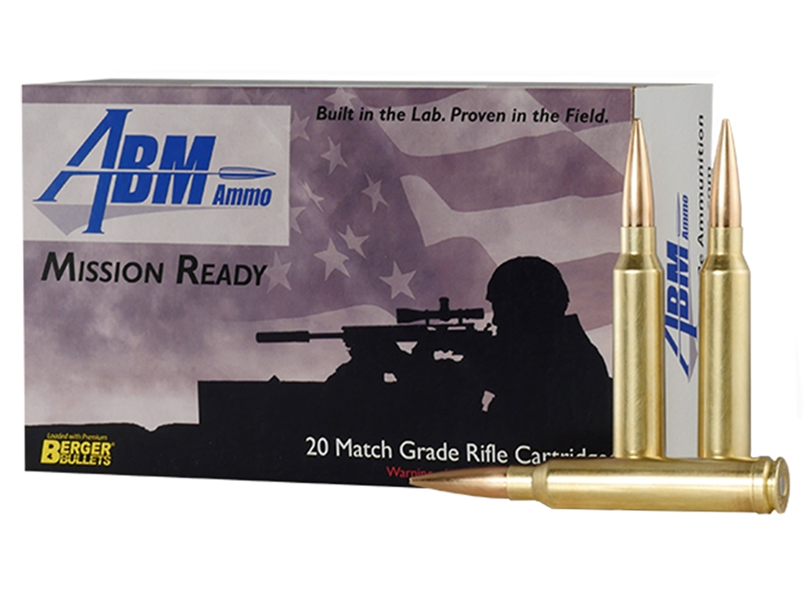 ABM Mission Ready-Tactical Ammunition 300 Winchester Magnum 230 Grain Berger Match Hybr...