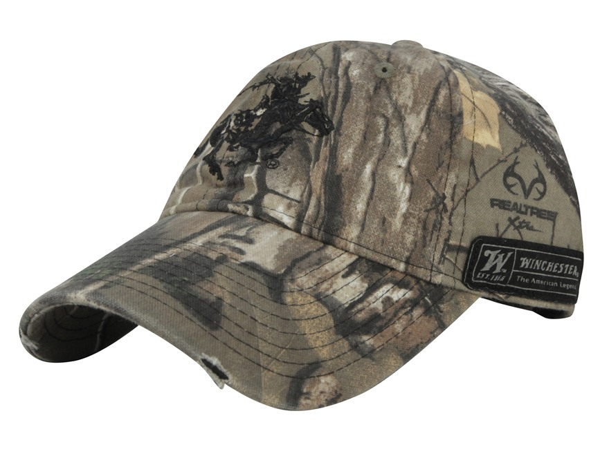 Winchester Horse and Rider Logo Cap Cotton Realtree Xtra Camo
