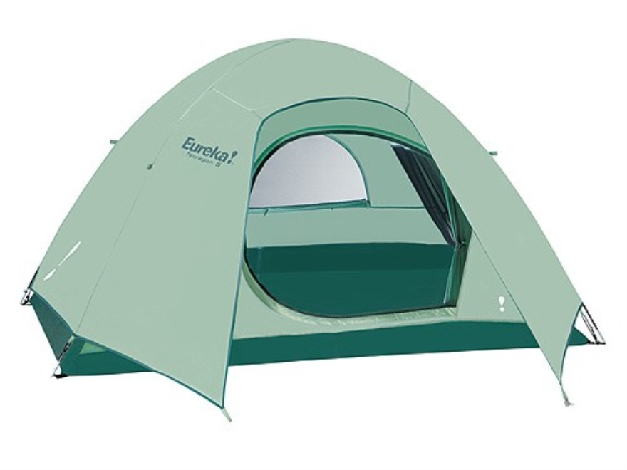 "Eureka Tetragon Eight 4 Man Dome Tent 102"" x 90"" x 60"" Polyester Green"