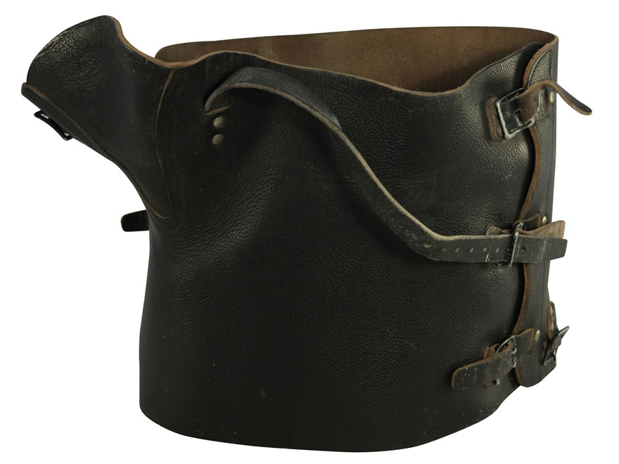 Military Surplus Swiss Black Leather Gaiters