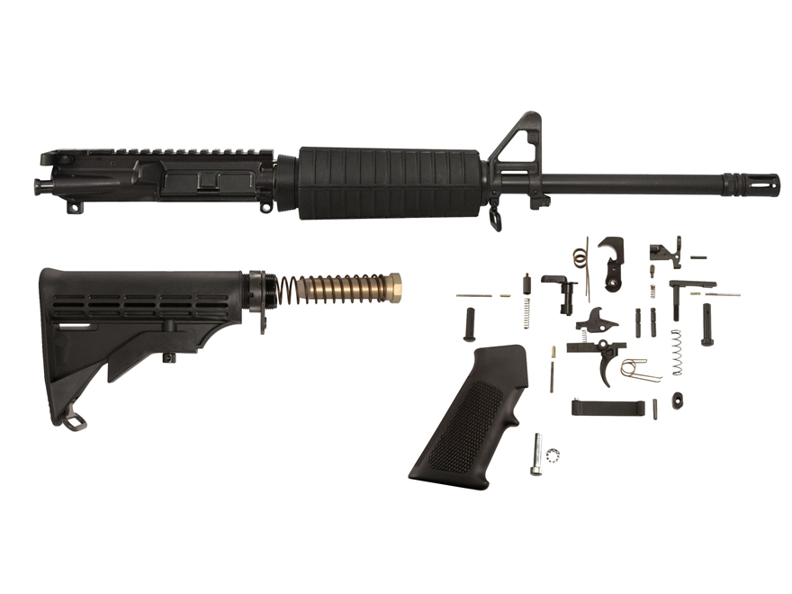 "AR-Stoner Carbine Kit with Complete Upper Assembly AR-15 7.62x39mm 1 in 10"" Twist 16"" B..."