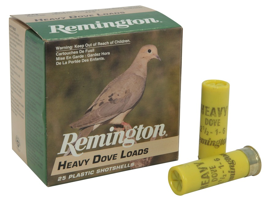 "Remington Heavy Dove Ammunition 20 Gauge 2-3/4"" 1oz #6 Shot Box of 25"