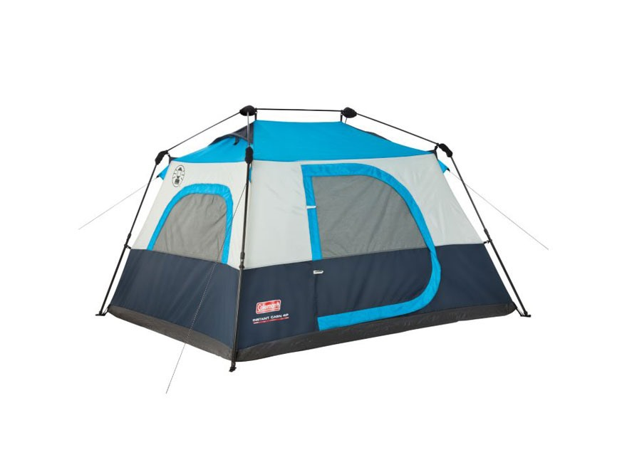 4 Person Instant Tent : Coleman person instant cabin tent polyester blue mpn