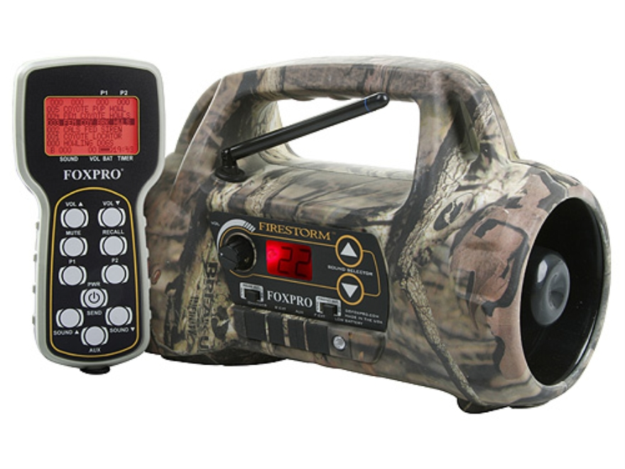 FoxPro Firestorm Electronic Predator Call with 50 Digital Sounds Mossy Oak Break-Up Inf...
