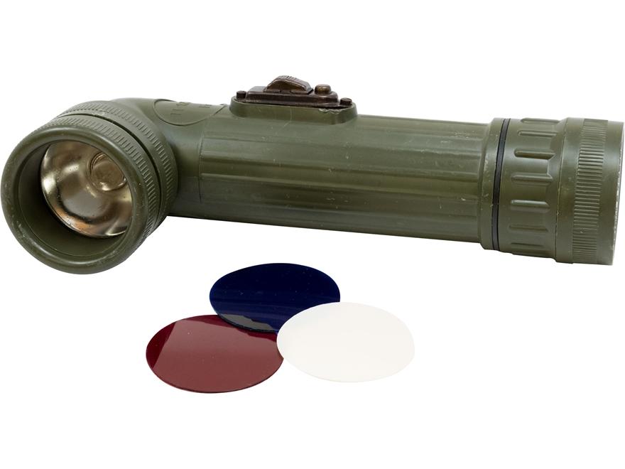 Military Surplus Belgium Angled Flashlight Grade 2 Olive Drab