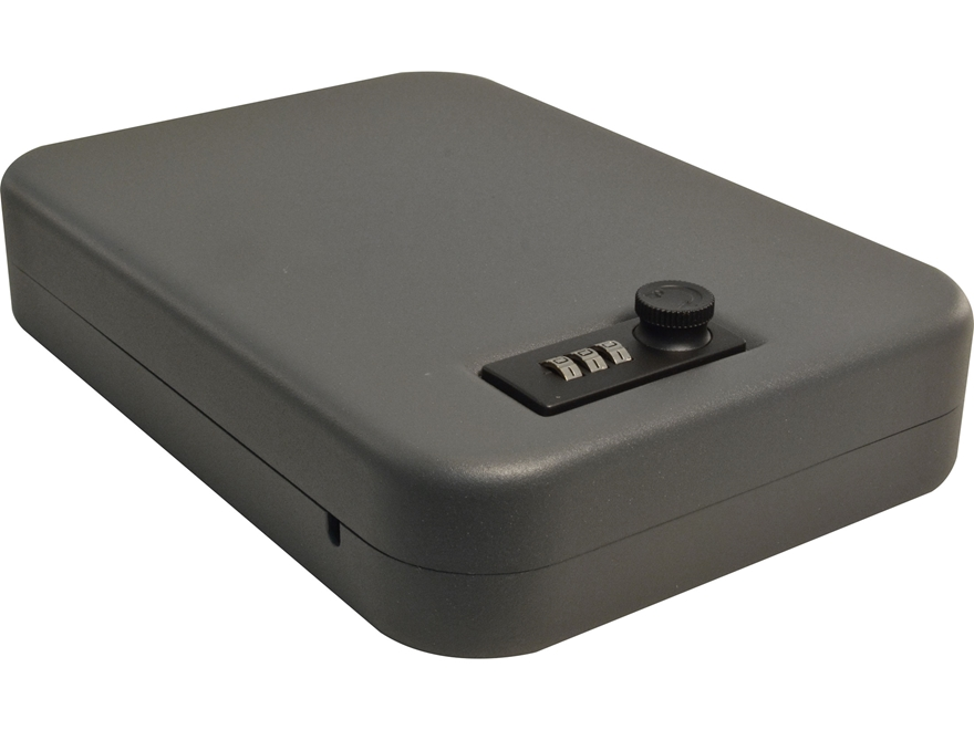 SnapSafe Lockbox Combination Lock Steel Black