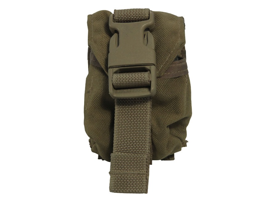 Military Surplus MOLLE II Frag Grenade Pouch Grade 1 Nylon Coyote