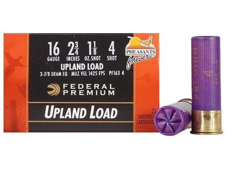 "Federal Premium Wing-Shok Ammunition 16 Gauge 2-3/4"" 1-1/8 oz Buffered #4 Copper Plated..."