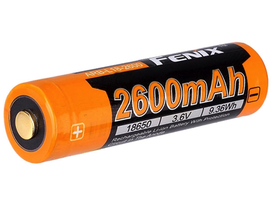 Fenix Rechargeable Battery 18650 3.6 Volt 2600 mAH