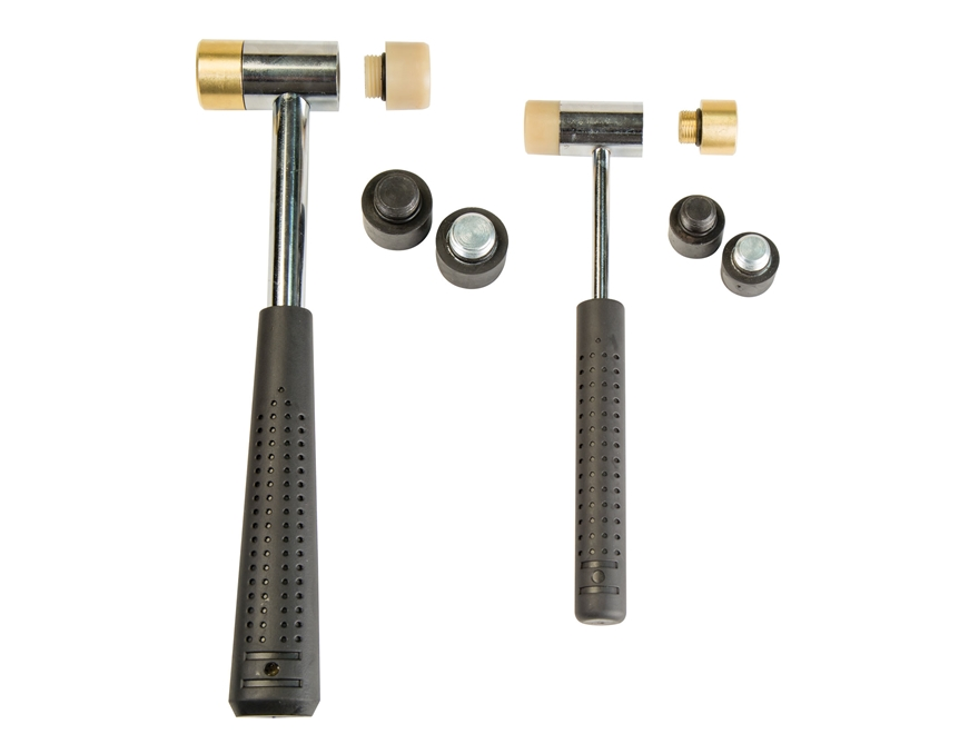 Wheeler Engineering 11-Piece Master Gunsmith Interchangeable Head Hammer Set