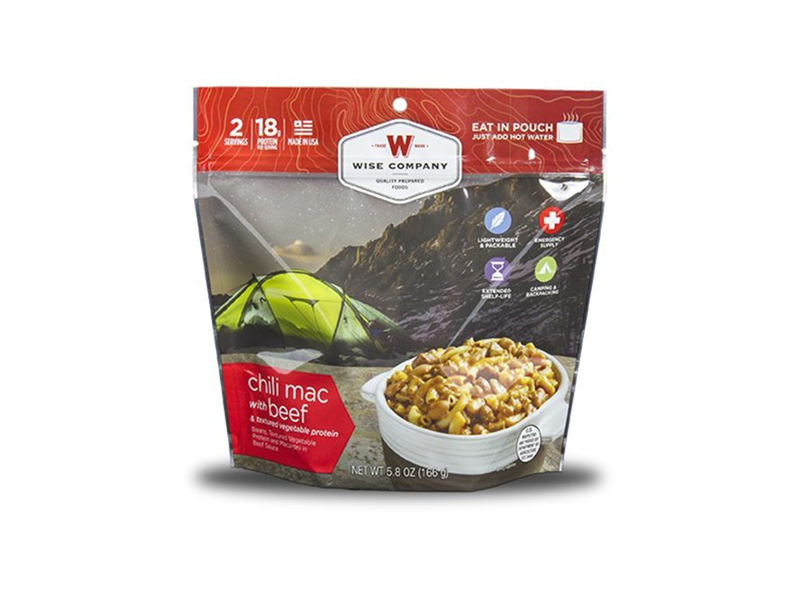Wise Company Outdoor Chili Mac With Beef Freeze Dried Food Pack Of 6