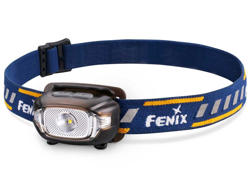 Fenix HL15 Headlamp LED with 2 AAA Batteries Aluminum and Polymer Black