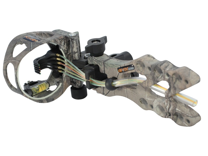 "Apex Gear Game Changer 5 Light 5-Pin Bow Sight .019"" Diameter Pins Aluminum Realtree Xt..."