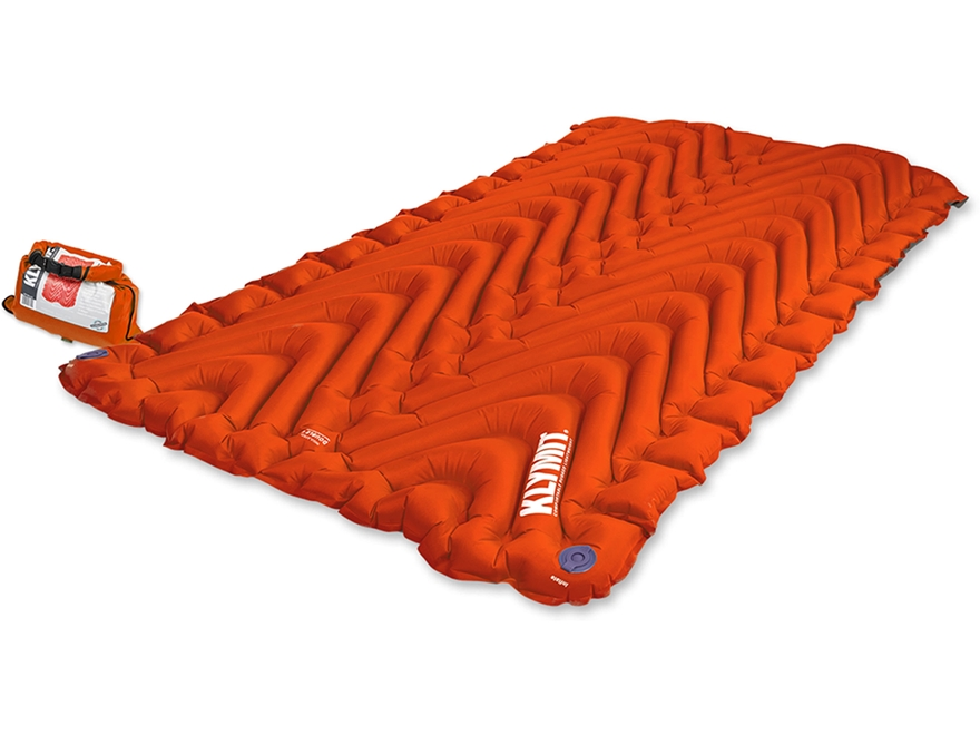Klymit Static Double V Insulated Sleeping Pad Polyester Orange and Black