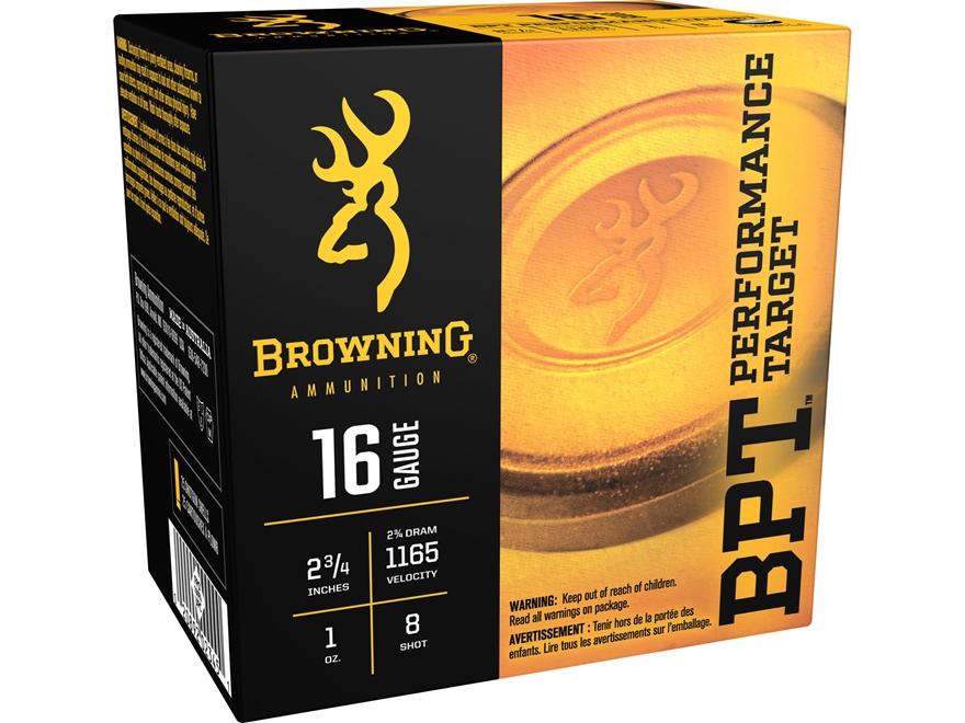 """Browning BPT Target Ammunition 16 Gauge 2-3/4"""" 1 oz #8 Shot"""