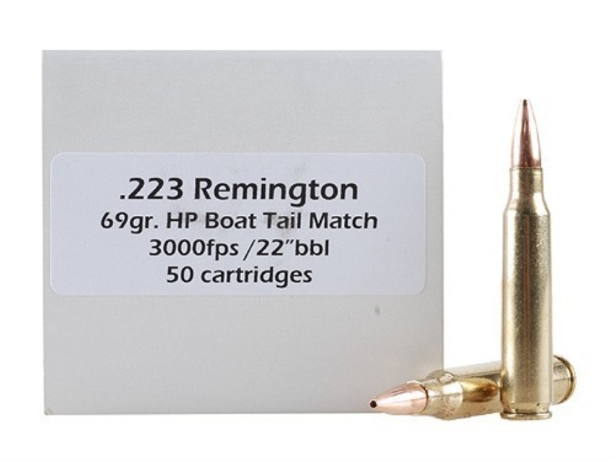 Doubletap Ammunition 223 Remington 69 Grain Nosler Custom Competition Hollow Point Boat...