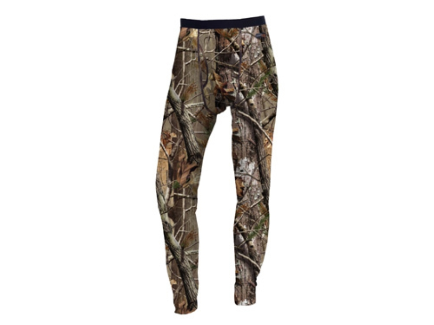 Russell Outdoors Men's Base Layer Pants Polyester Realtree AP Camo Large 38-40 Waist 33...