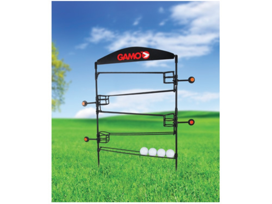 Gamo Plinking Airgun Target Stand with Drop Ball Steel Black