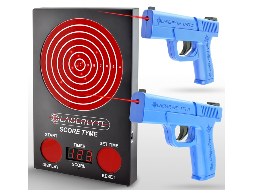 LaserLyte ScoreTyme Versus Kit with Compact and Full Size Trigger Tyme Laser Trainer Pi...