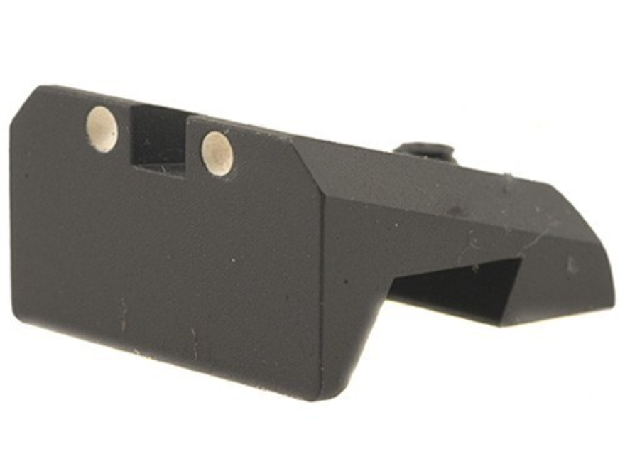 Novak Competition Rear Sight 1911 Standard Rear Cut Steel Black with White Dots