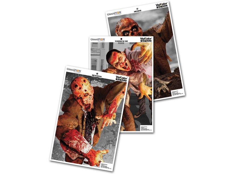 "Champion VisiColor Zombie Variety Pack Targetss 12"" x 18"" Paper Pack of 6"