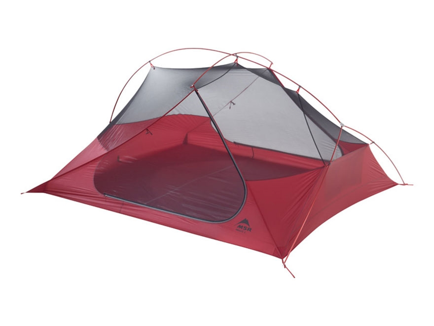 "MSR Freelite 3 Man Modified Dome Tent 84"" x 68"" x 39"" Nylon and Polyester Red and White"