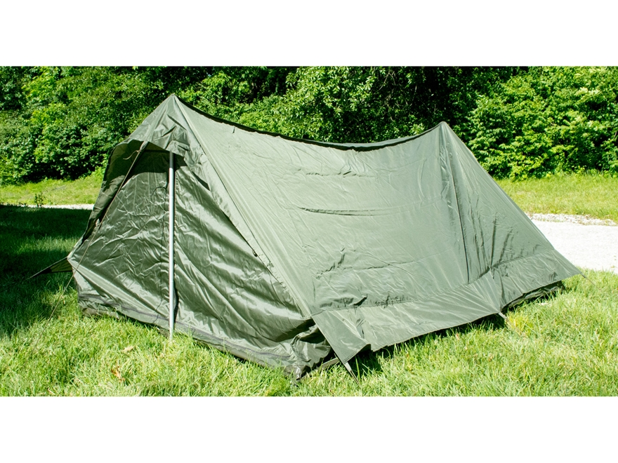 Military Surplus NATO 2 Man Tent with Ground Cover Grade 2 Olive Drab
