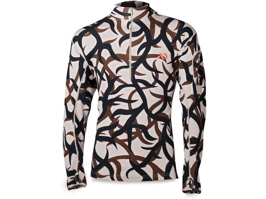 First Lite Men's Chama QZ 1/4 Zip Long Sleeve Base Layer Shirt Merino Wool