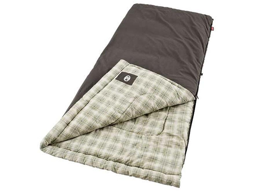 Coleman Heritage 10 Degree Big & Tall Sleeping Bag Polyester Brown