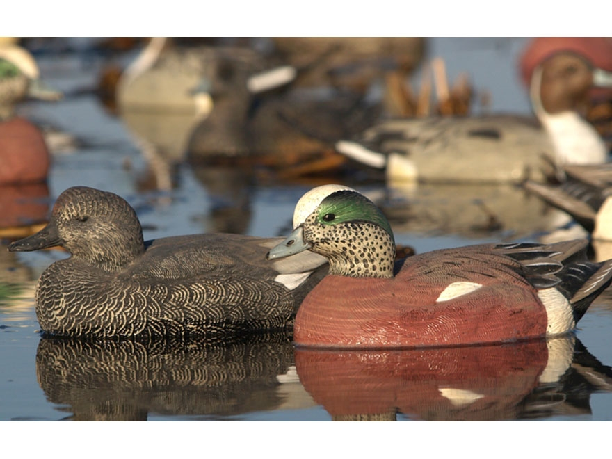 GHG Life-Size Wigeon Duck Decoy Pack of 6