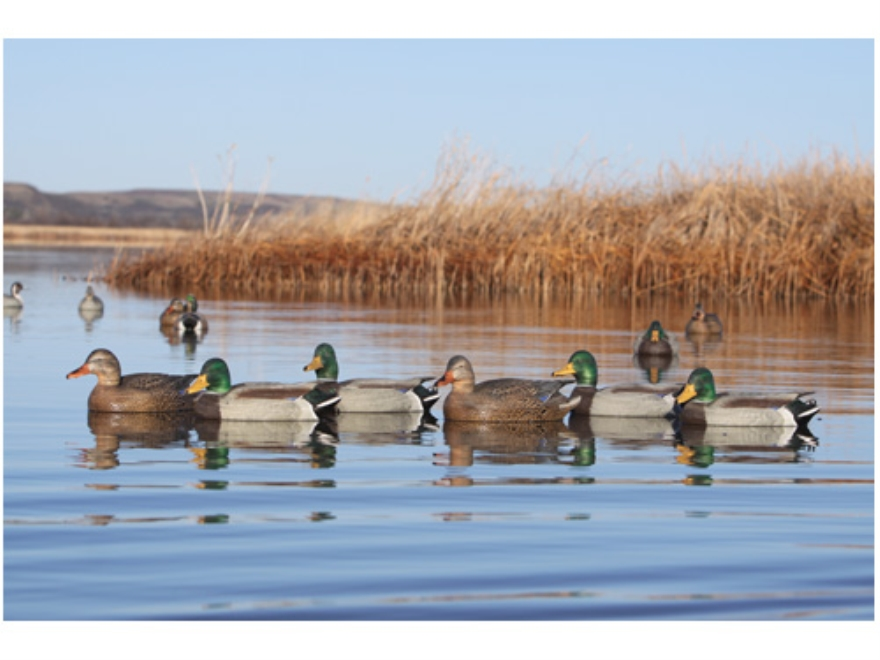 GHG Pro-Grade Weighted Keel Mallard Duck Decoys Active Pack of 6